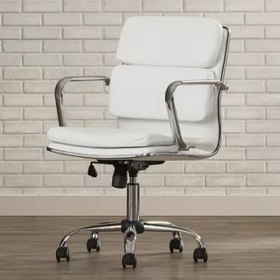 ivory leather office chair target toddler chairs desk wayfair quickview