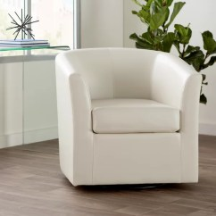 Swing Chair Bedroom Humanscale Wade Logan Wilmore Faux Leather Swivel Barrel & Reviews | Wayfair