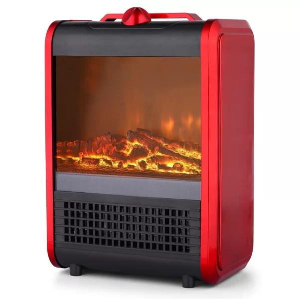 PRFH Ceramic Mini Fireplace 7501500 Watt Portable