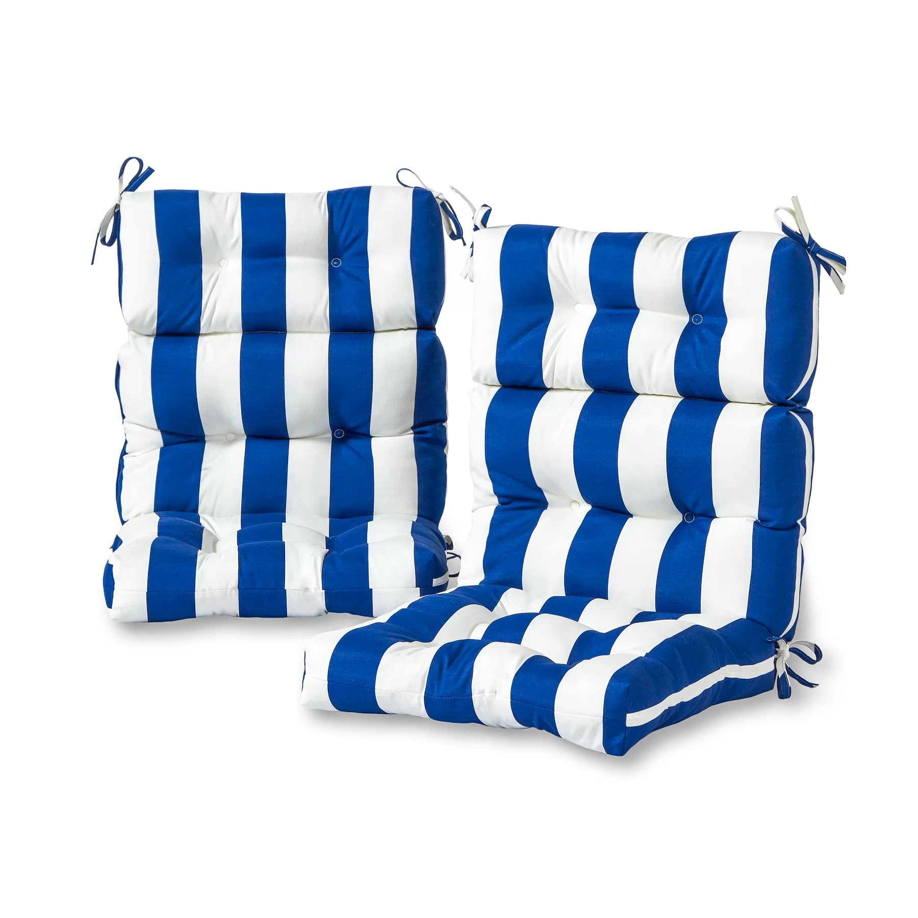 high back lawn chair cushions covers for weddings pinterest greendale home fashions cabana stripe indoor outdoor lounge cushion reviews wayfair