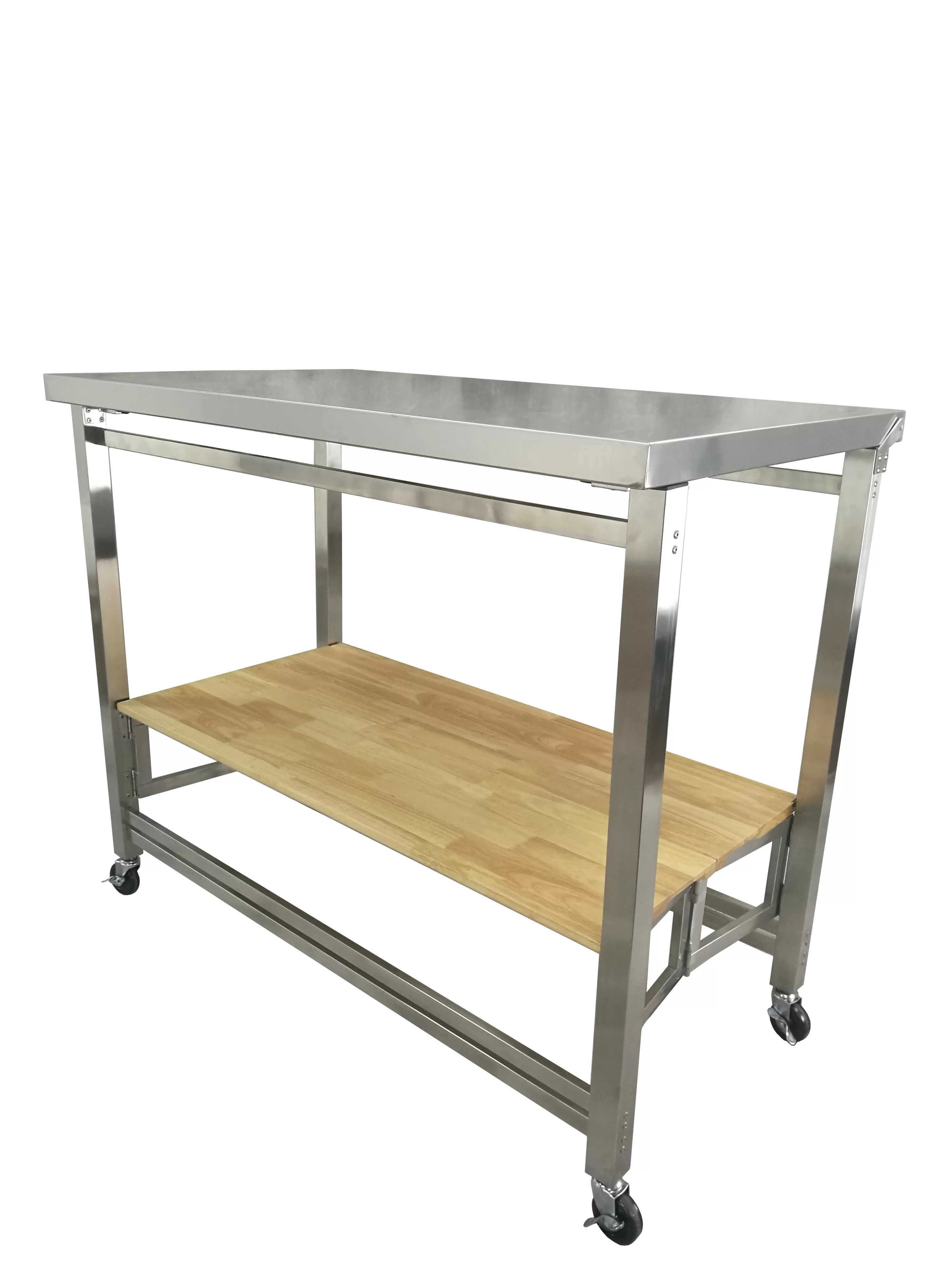 large kitchen cart island with folding leaf labbe x