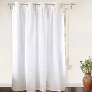 lily pinch pleated voile sheer blackout thermal grommet single curtain panel