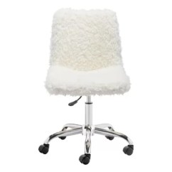 Fuzzy White Chair Dining Room Covers Walmart.ca Fur Desk Wayfair Morningside Drive Office