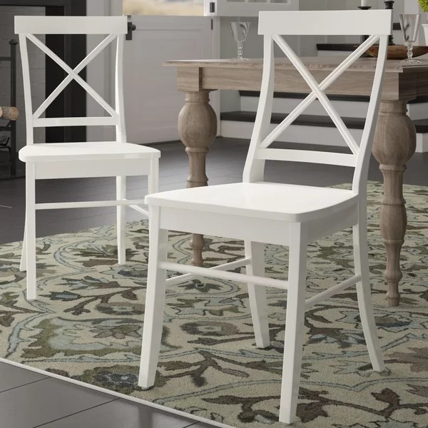 Admirable Melbourne Shores Solid Wood Dining Chair By Beachcrest Home Home Interior And Landscaping Eliaenasavecom