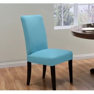 teal chair covers pastel table and chairs dining slipcover wayfair quickview