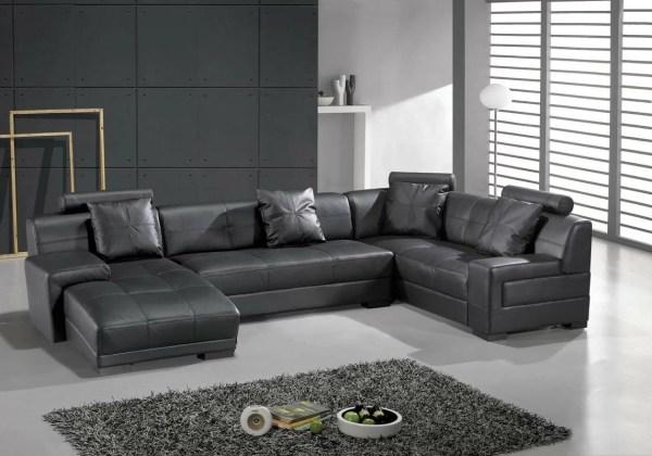 Hokku Design Houston Leather Sectional &