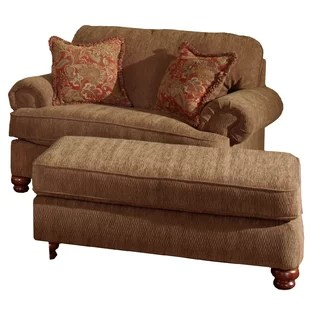big chair with ottoman banquet covers and wayfair quickview