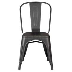 Metal Bistro Chairs Skeleton Chair Black Wayfair Quickview