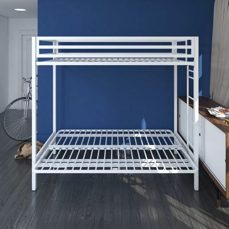 Simoneau Metal Twin over Full Futon Bunk Bed
