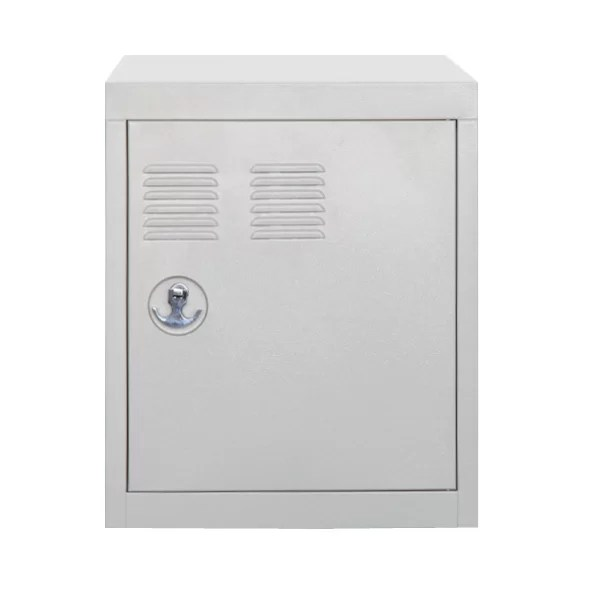 Stack 1 Door Storage Cabinet Color: White