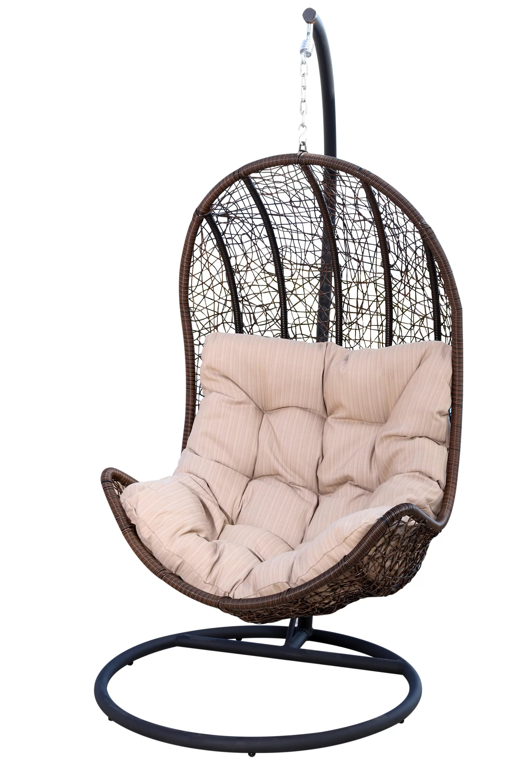 Swinging Chair Ghazali Eggshaped Swing Chair With Stand