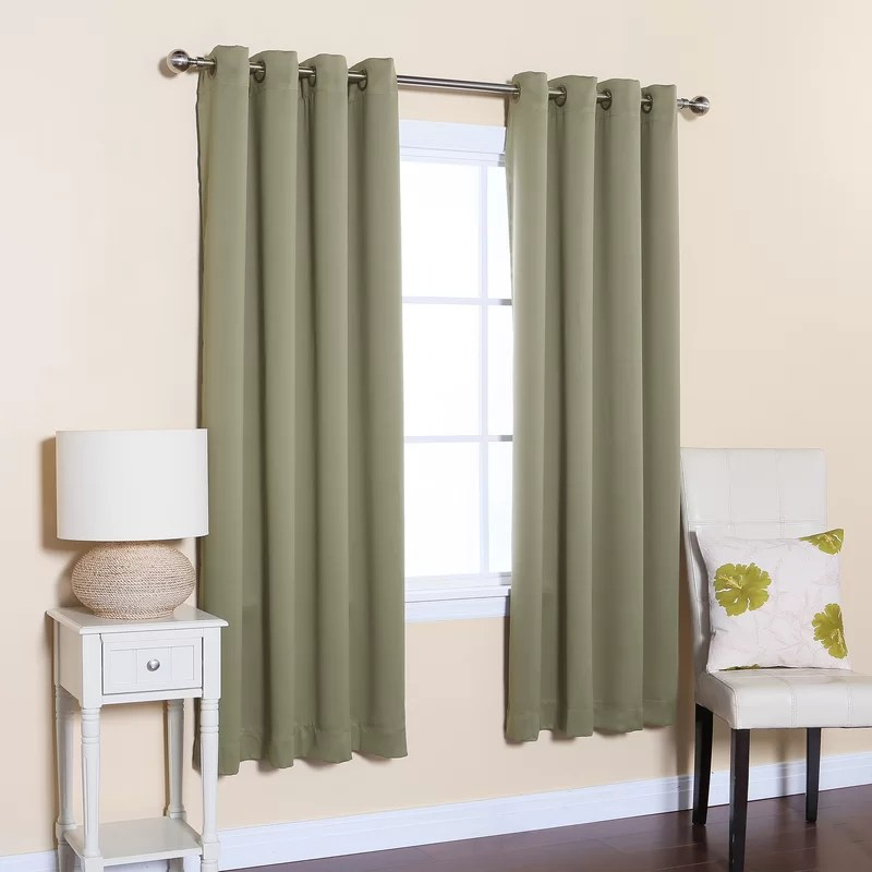 Best Home Fashion Inc Solid Blackout Thermal Grommet Curtain Panels Amp Reviews Wayfair