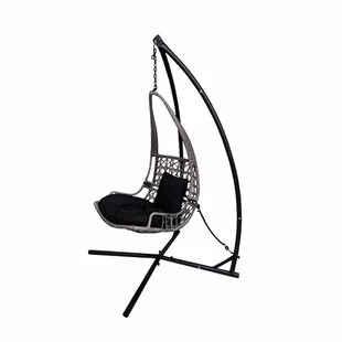hanging chair edmonton office swivel chairs indoor swing hammocks you ll love wayfair newlon wicker rattan with stand