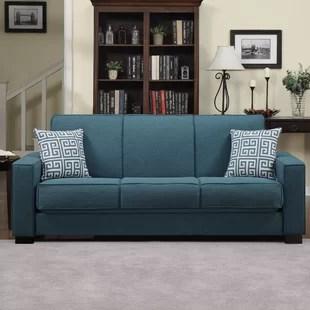 teal sofas 2 seater brown rattan sofa blue wayfair quickview