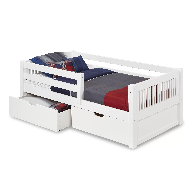 Mattress With Storage Plain White Mdf Toddler Bed Children S Beds With Mattresses Home Furniture Diy Lesaintcyr Fr