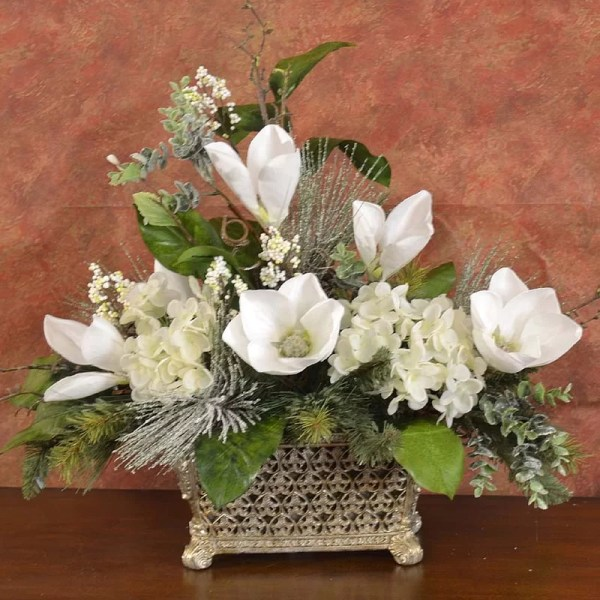 Christmas Floral Arrangements Magnolia Year Of Clean Water