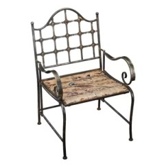 Iron Outdoor Chairs Plastic Wrought Wayfair Rustic Patio Chair
