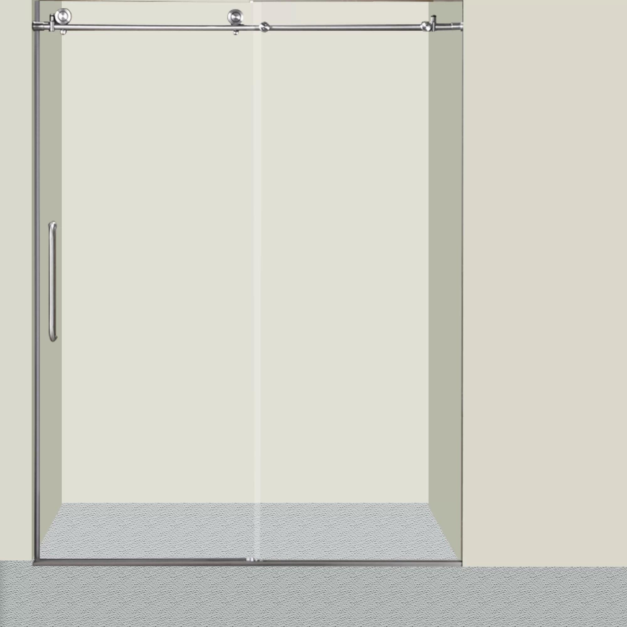 Glass 60 X 76 Single Sliding Frameless Shower Door