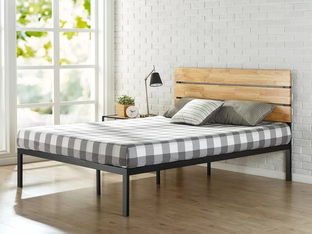 Zinus Sonoma Metal/Wood Platform Bed & Reviews