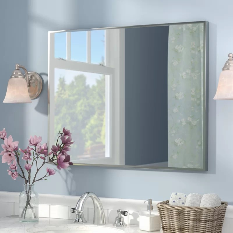 kitchen storage canisters tool crock newland bathroom/vanity mirror & reviews | birch lane