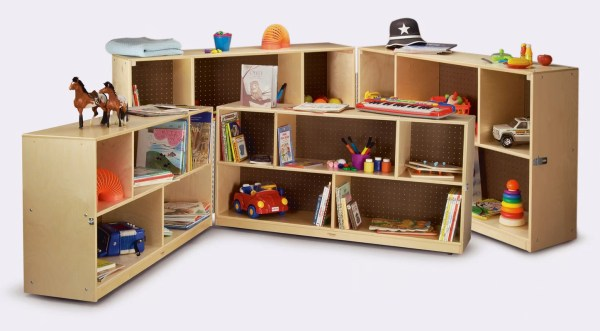 Whitney Bros. Folding Shelving Unit With Casters &