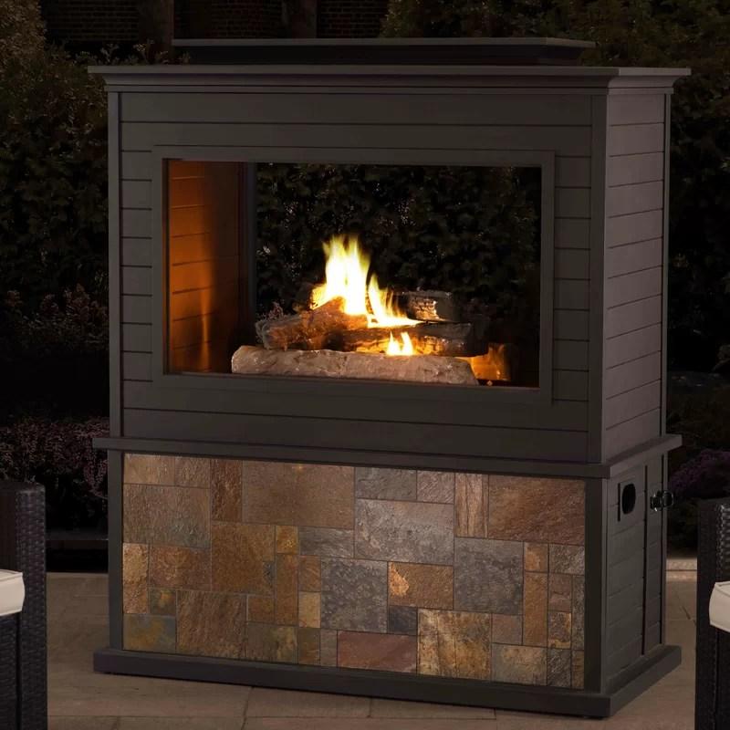 Sunjoy Steel Gas Fireplace  Wayfair