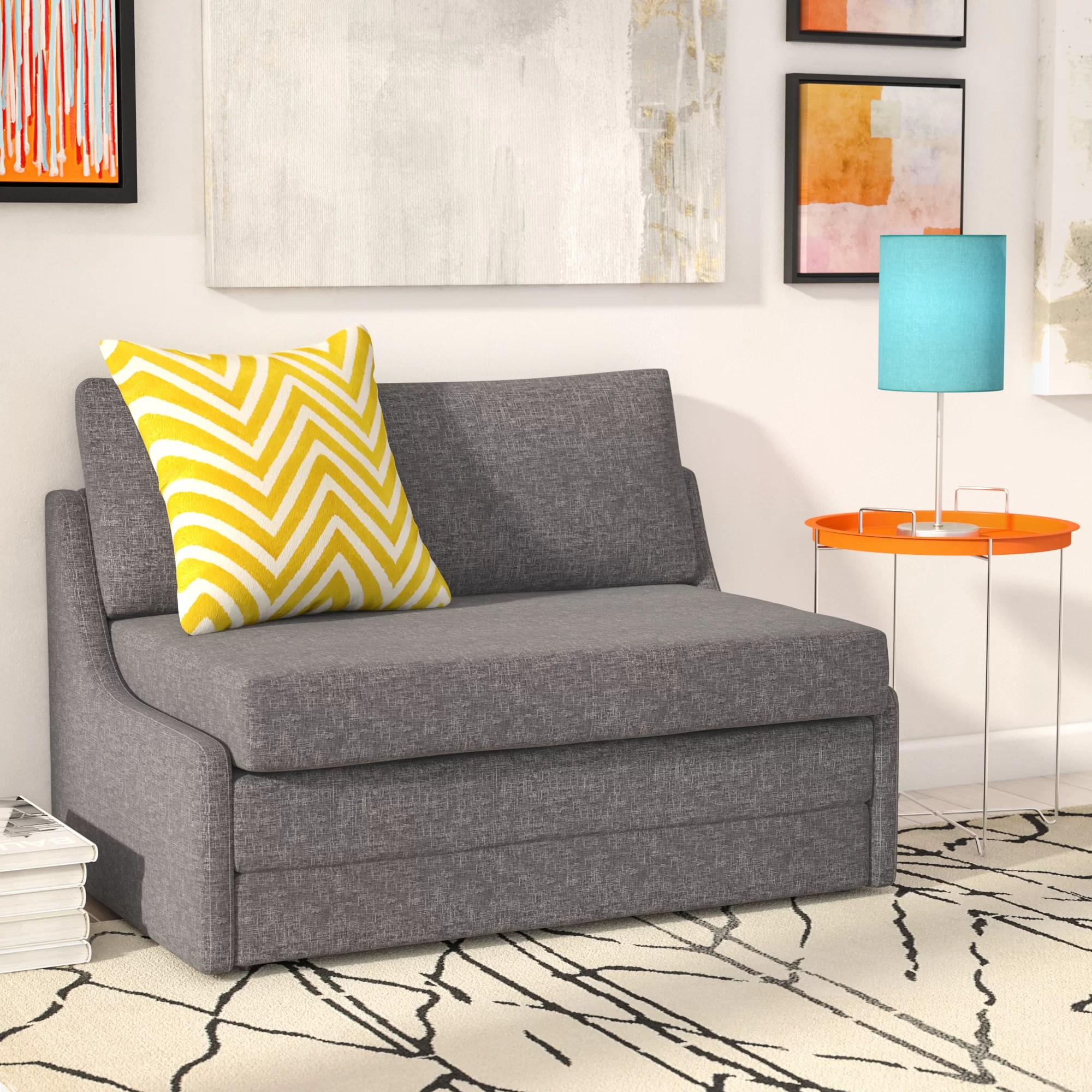 Zipcode Design Sabine Sleeper Loveseat Amp Reviews Wayfair