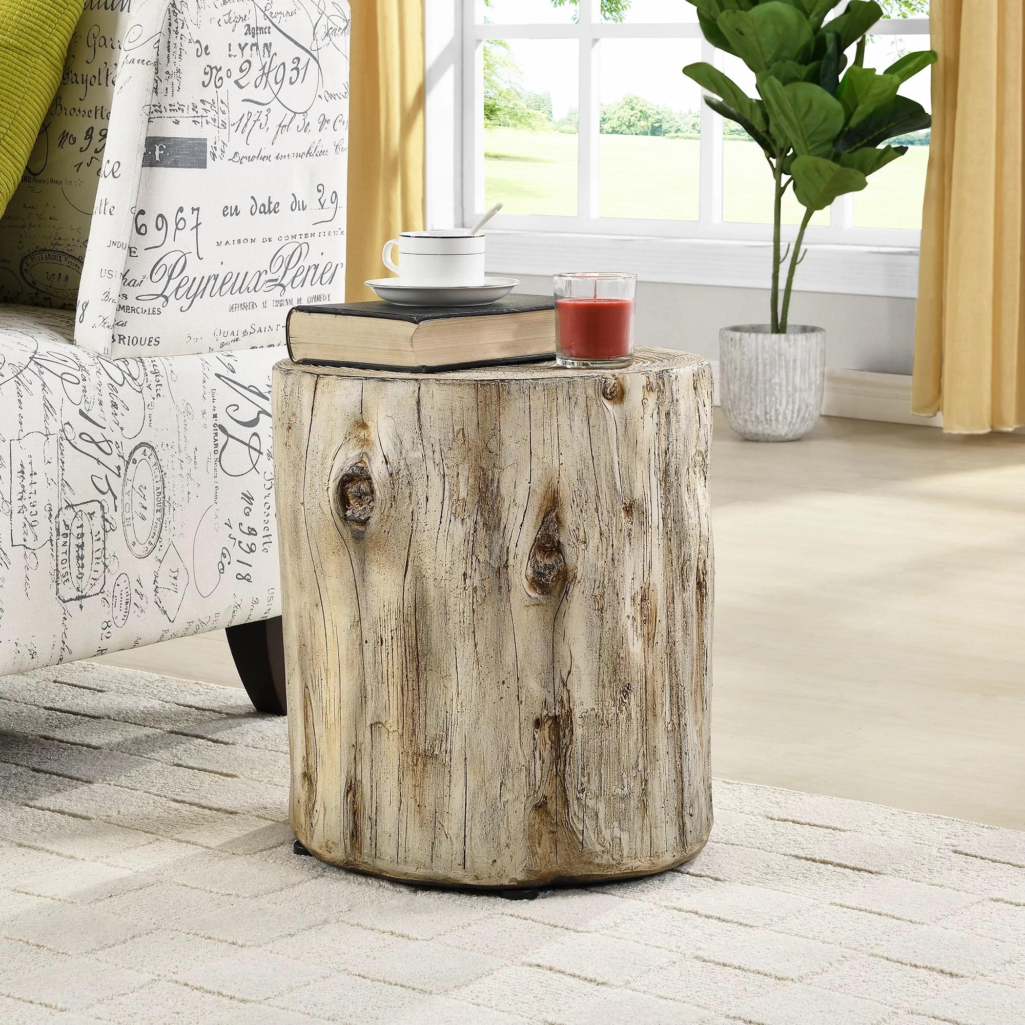 Loon Peak Gosnold Tree Stump End Table Reviews Wayfair