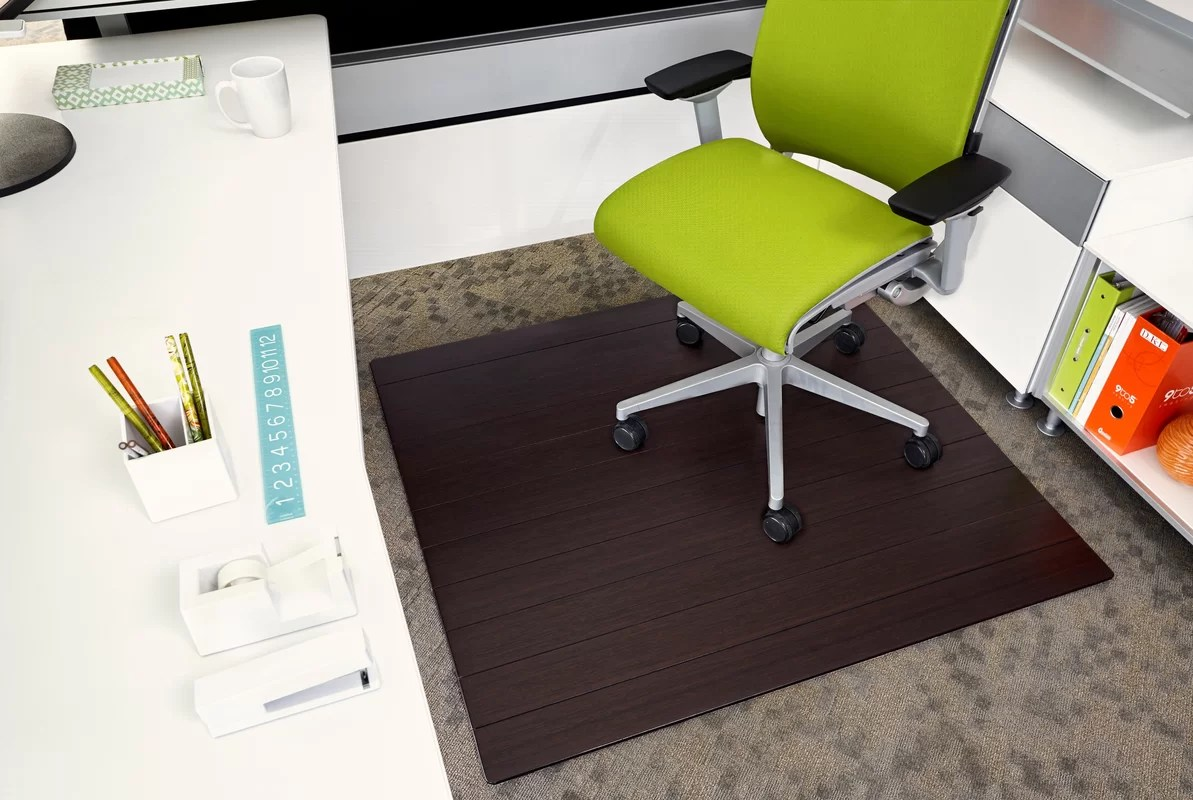 chair mat bamboo clear plastic patio covers symple stuff office and reviews wayfair