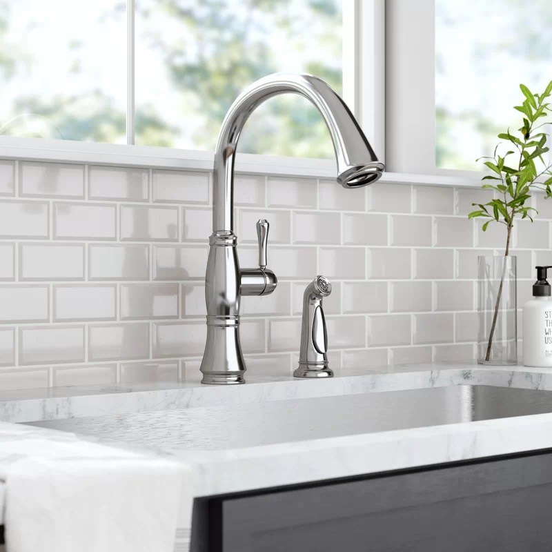 cassidy single handle kitchen faucet with side spray and diamond seal technology