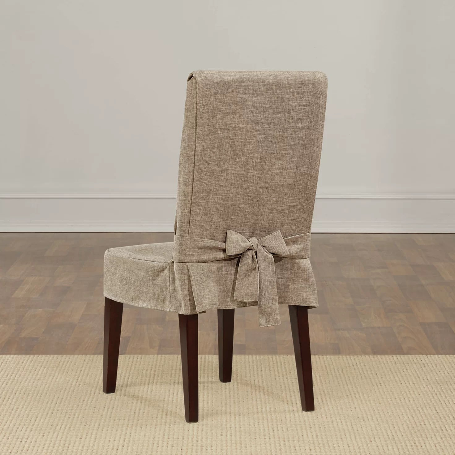 fitted chair covers ebay red folding sure fit shorty dining slipcover and reviews wayfair