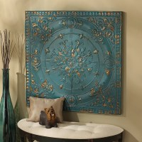 Design Toscano Viennese Pressed Metal Ceiling Tile Wall ...