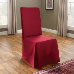 Chair Covers Cotton Light Wood Dining Chairs Sure Fit Duck Long Slipcover And Reviews Wayfair