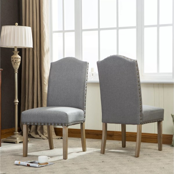 Urban Mod Solid Wood Upholstered Parson Chairs
