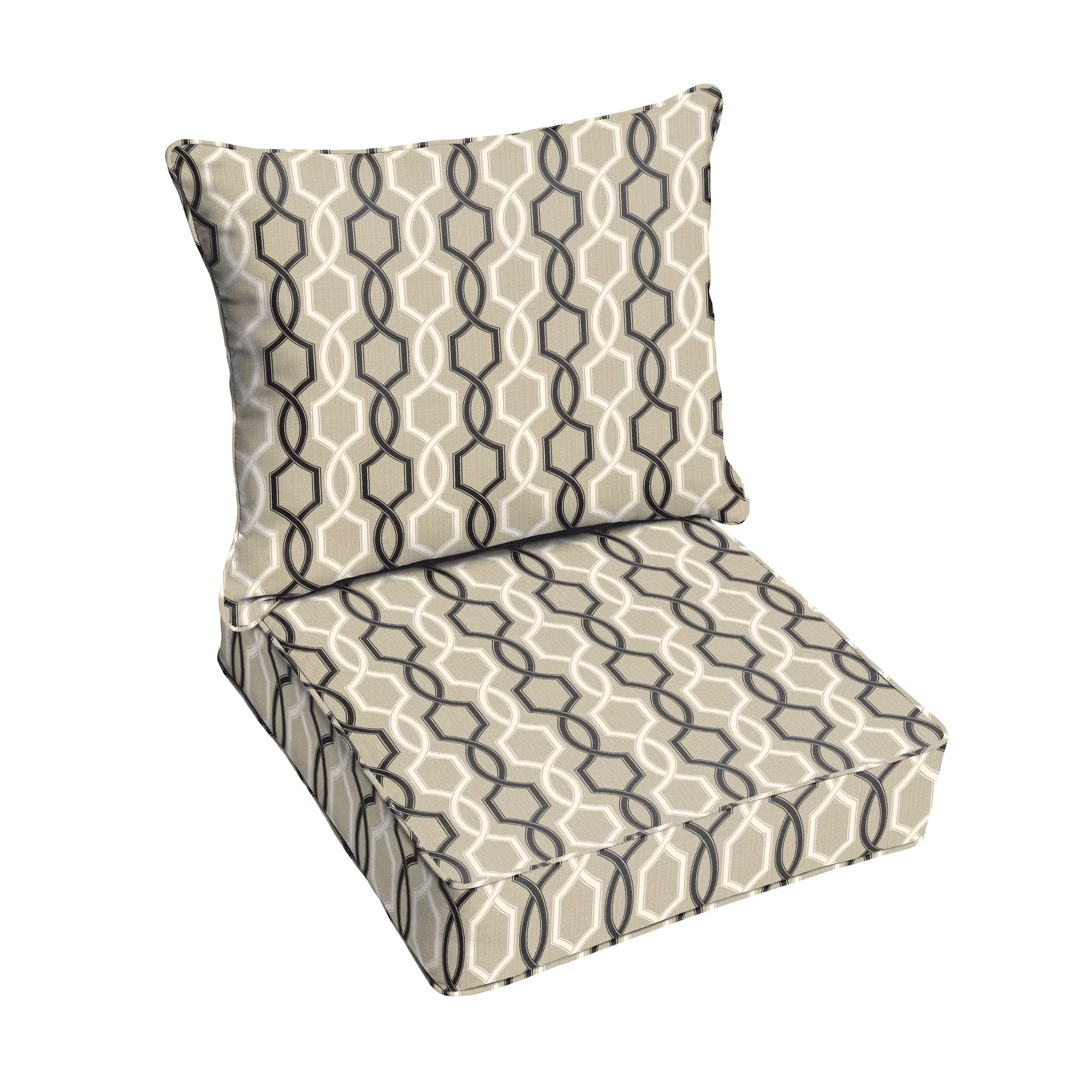 1 piece patio chair cushions teak lounger chairs darby home co bank 2 outdoor sunbrella dining