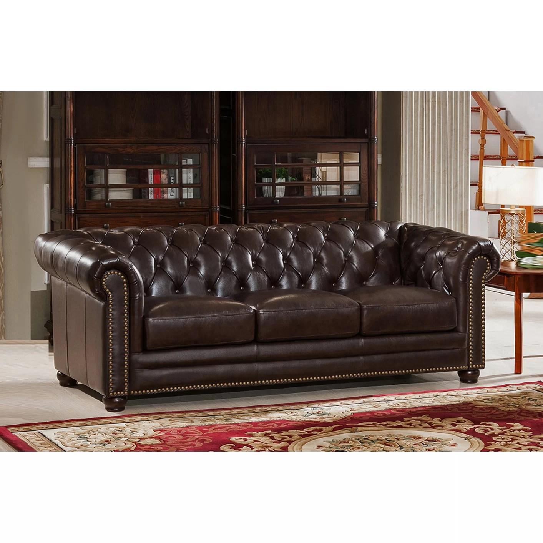 montclair top grain leather sofa and loveseat set cheap faux beds uk amax kensington chesterfield
