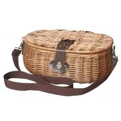 Picknick-Tragetasche mit braunem Korbgeflecht