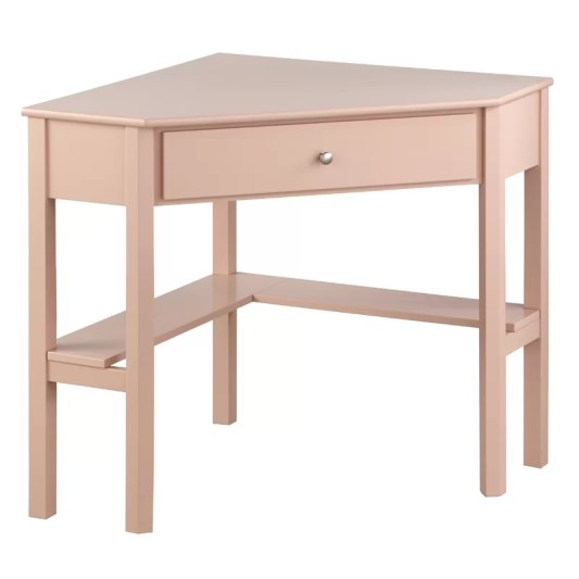Suri Wood Corner Writing Desk