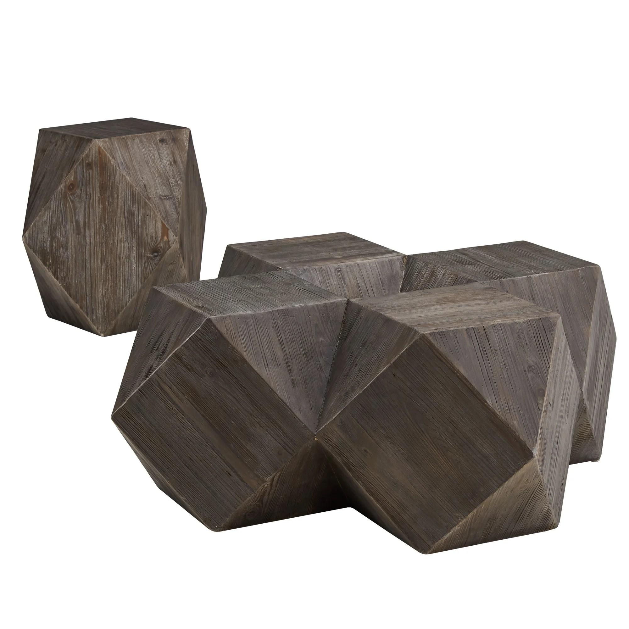 millwood pines mcmillin reclaimed wood 2 piece coffee table set wayfair
