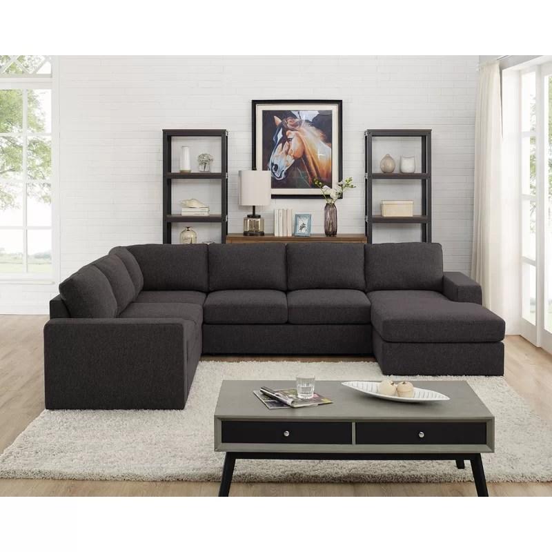 alberdina 5 seater u shape sectional sofa beige