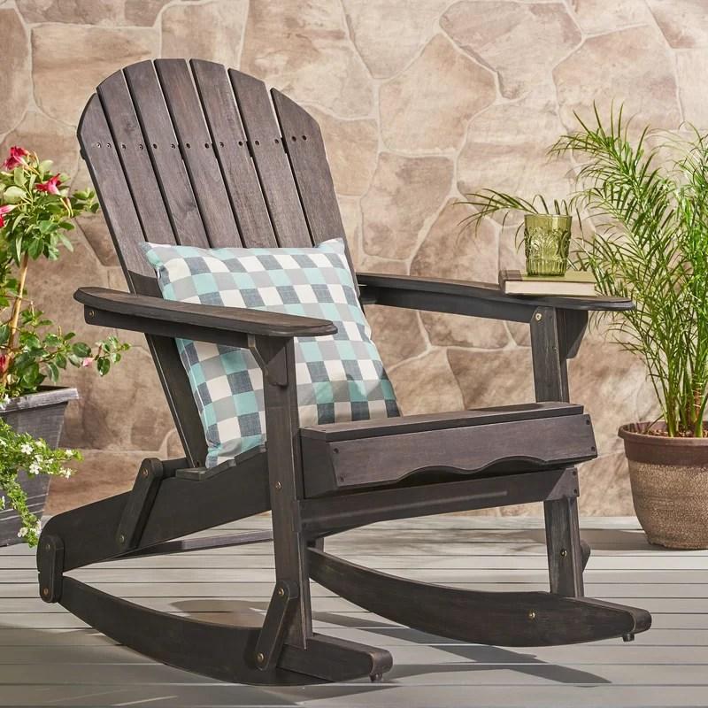 Stamm Solid Wood Rocking Adirondack Chair