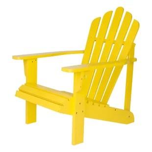 yellow adirondack chairs plastic wooden yard joss main quickview