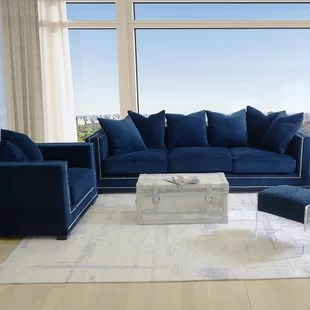 blue living room sets contemporary accent chairs for royal wayfair cooper configurable set