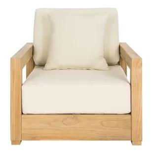 montford teak patio chair with cushions