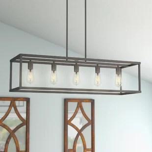 hanging kitchen light fixtures cool stuff island lighting you ll love wayfair cassie 5 pendant
