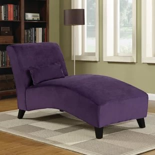 purple chaise lounge chair captain style dining chairs wayfair quickview