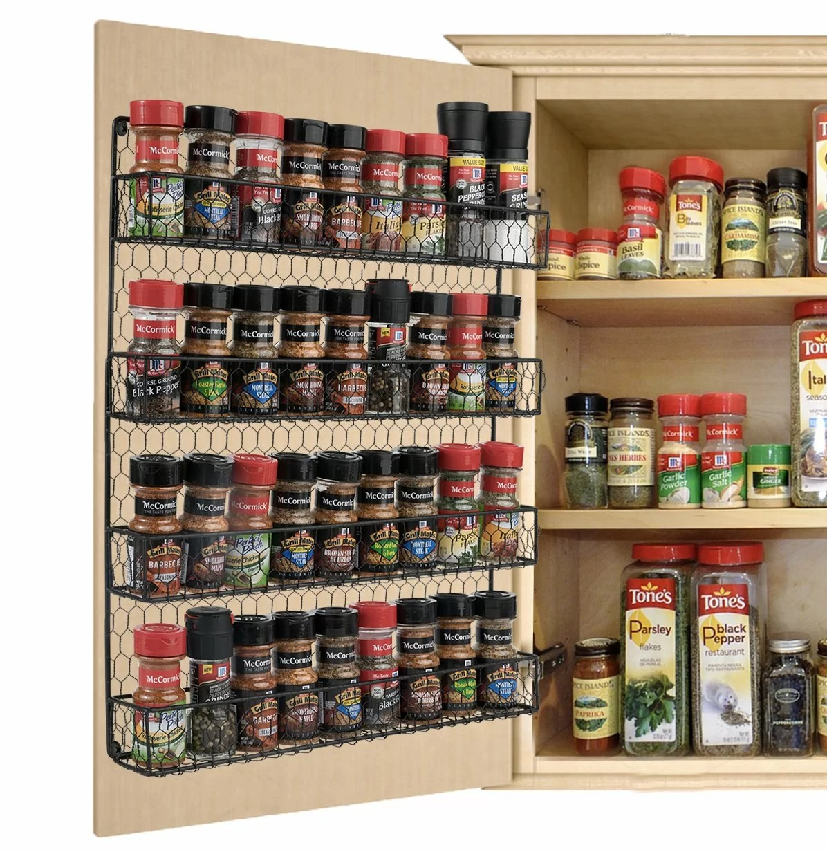 4 tier 36 jar spice rack