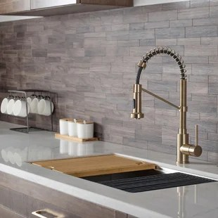 kraus bolden 18 inch single handle commercial style pull down kitchen faucet with soap dispenser in matte black kpf 1610mb ksd 43mb
