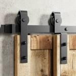 Homacer Classic Design Single Bypass Barn Door Hardware Kit Reviews Wayfair