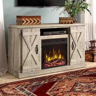 lorraine tv stand for tvs up to 50 with electric fireplace included